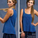 Модные женские блузки на спицах