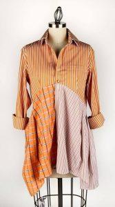 Блузка из мужской рубашки - стильные переделки своими руками