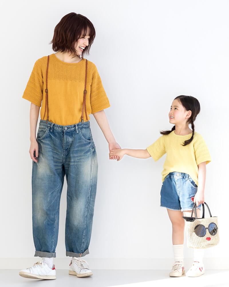 Простая детская футболка спицами из японского журнала
