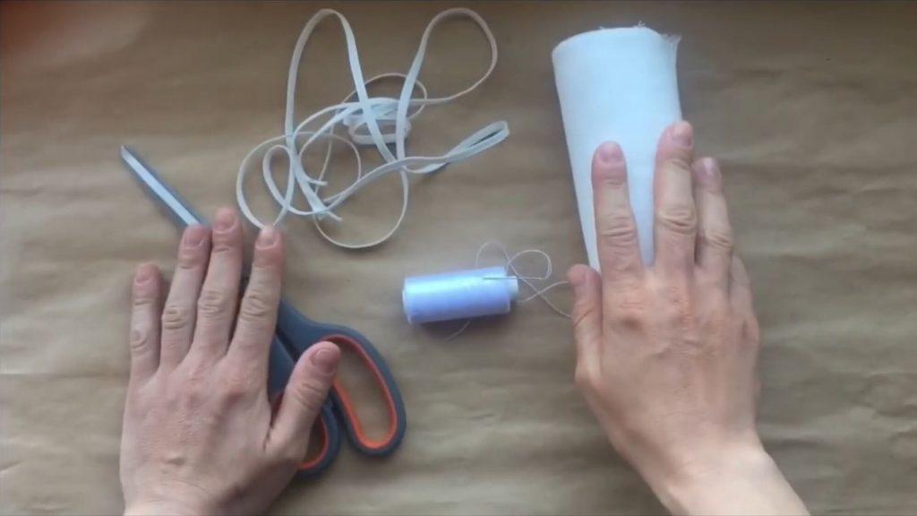 Как быстро сшить марлевую повязку - два простых способа (мк с фото)