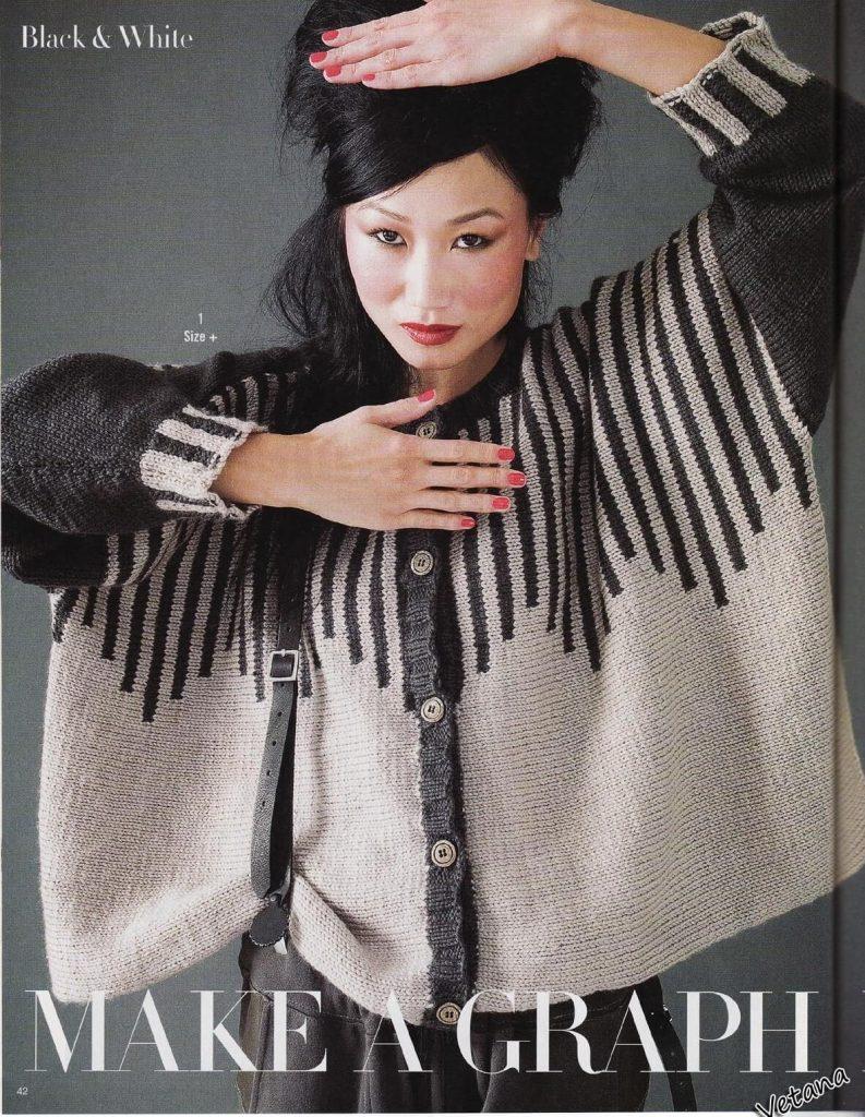 Вяжем спицами стильный кардиган оверсайз - в моде свободный крой